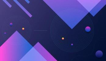 Blue Purple Gradient Geometric Shape vector