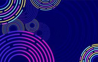 Spiritual Circular Neon Background vector