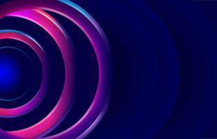 Abstract Dynamic Circular Neon Background vector