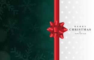 Beautiful Christmas Ribbon Background vector