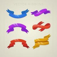 colección de cintas de seda vector