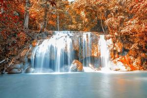 Waterfall in beautiful Autumn