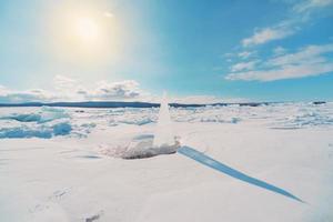 Ice sundial photo