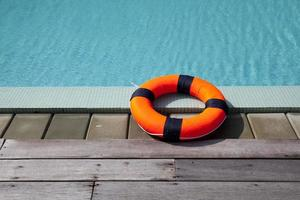 lifebelt at the pool photo