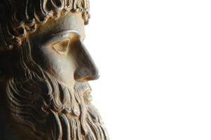 Greek god in profile