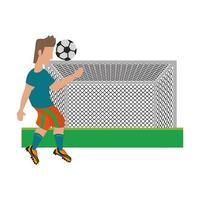 Soccer player sport game cartoon vector