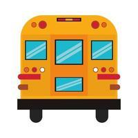 Back of a cartoon school bus vector