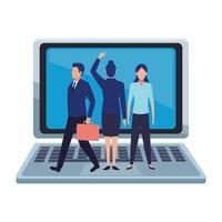 Business people avatars cartoon character