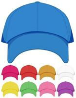 Isolated cap on white background vector