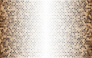 Hexagonal halftone geometric pattern vector