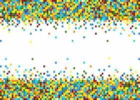 Colorful pixel tile pattern vector