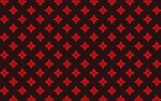 Seamless Red Flower Pattern