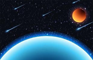 Space background with stars and planets vector