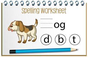 encontrar la letra que falta con el perro