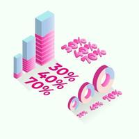 Flat 3d isometric infographic for business presentations