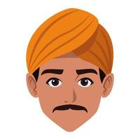 Man face avatar cartoon vector