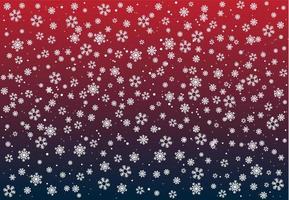 Christmas Snowfall Background vector