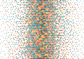 Colorful triangle halftone pattern