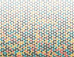 Triangle colorful geometric halftone design vector
