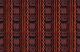 diseño de tela tribal tradicional vector