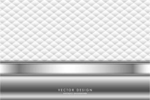 Fondo metálico de lujo blanco y plateado.