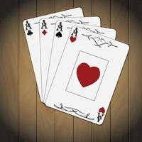 Ace of spades, hearts, diamonds, and clubs vector