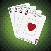 Ace of spades, hearts, diamonds, and clubs