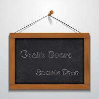 Chalkboard wood frame sample text hanging on wall vector