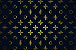 Glowing Gold Color Royal Pattern