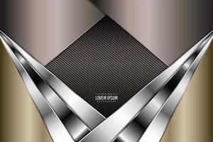 Modern gold, brown and silver metallic background vector