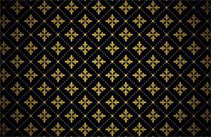 Golden color royal pattern vector