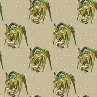 patrón de personaje de dragón fantástico sin fisuras