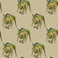 Seamless fantastic dragon character pattern vector