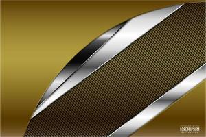 Fondo metálico dorado y plateado moderno. vector
