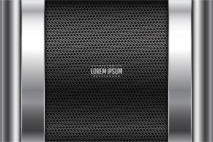 Modern grey and silver metallic background vector