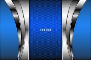 Fondo metálico azul y plateado moderno