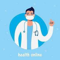 Online health technology with doctor character