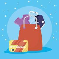 bolsa de compras compras en línea y comercio electrónico