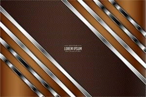 Modern brown and silver metallic background vector