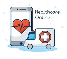 Online healthcare technology via smartphone