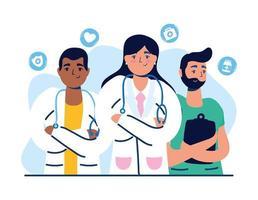 personal médico con médicos y enfermeras