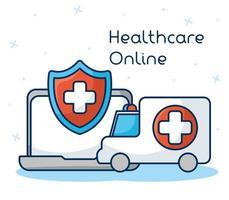 Online healthcare technology via laptop