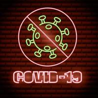 Stop Covid-19 neon sign