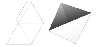Triangular pylon snack container die cut template