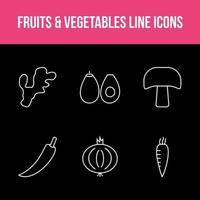 Unique Fruits and Vegetable App Set vector