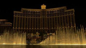 Wasserbrunnen Show im Bellagio in Las Vegas 4k video