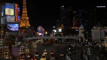 notte sulla strip di las vegas 4k
