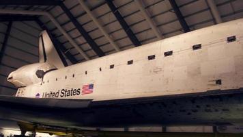 el esfuerzo del transbordador espacial de cerca 4k video