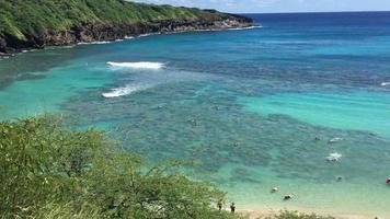 Aerial shot of Hy Bay, in Hawaii 4K