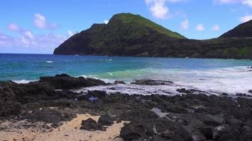 costa havaiana rochosa 4k video